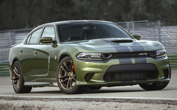 Download Wallpapers Dodge Charger Srt Hellcat 2019 Exterior Green New Charger Tuning American Cars Dodge Besthqwallpapers Com Dodge Charger Charger Srt Hellcat Dodge Charger Hellcat