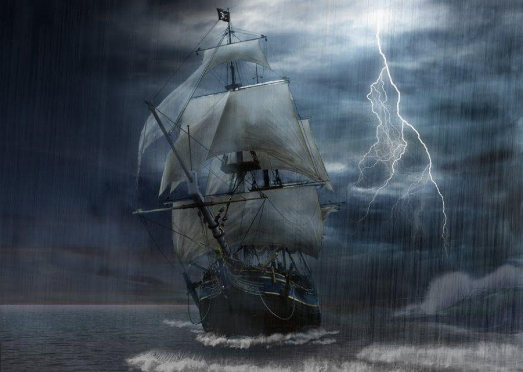 sailing ship storm widescreen wallpapers 15368
