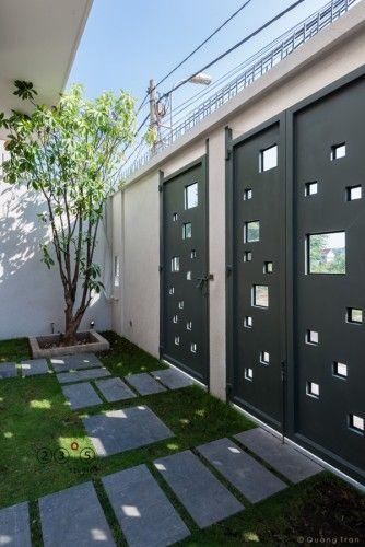 Jardín al frente puerta y portón Portones Pinterest Gates