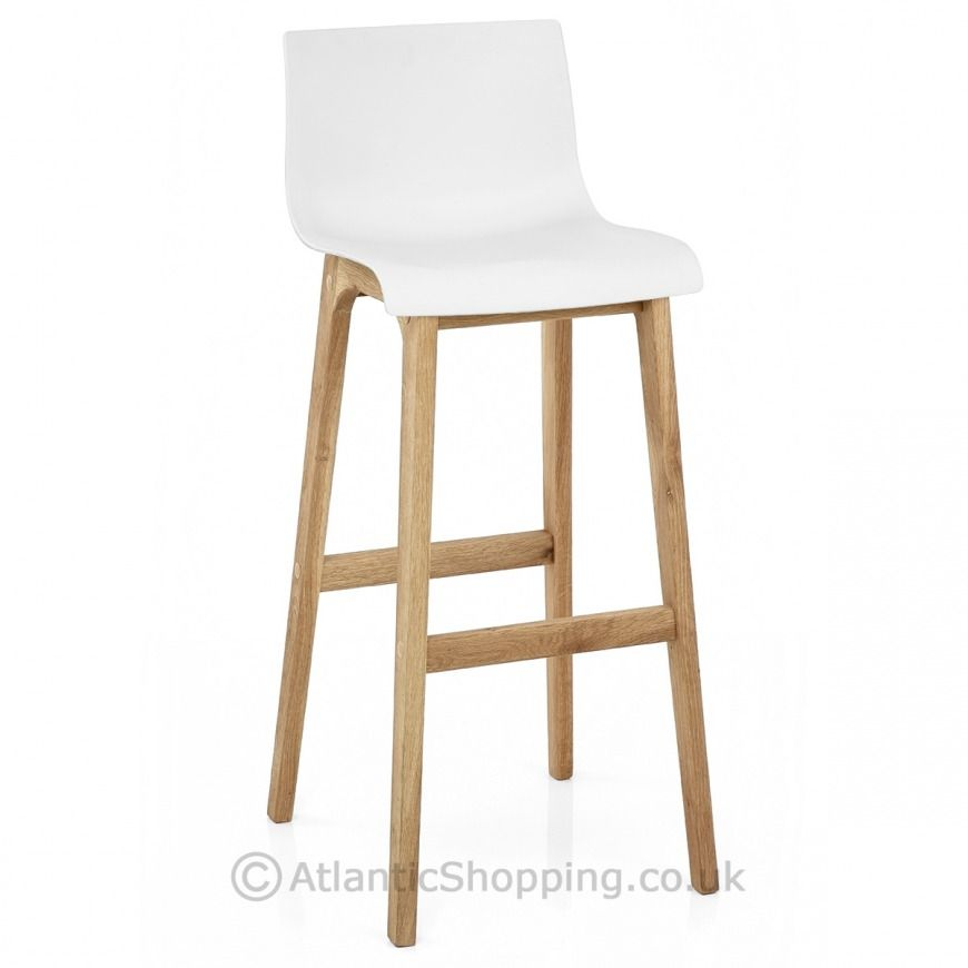 Drift Oak White Bar Stool