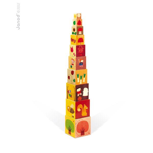Pyramide carrée - Les 4 saisons Janod | Acheter sur Greenweez.com