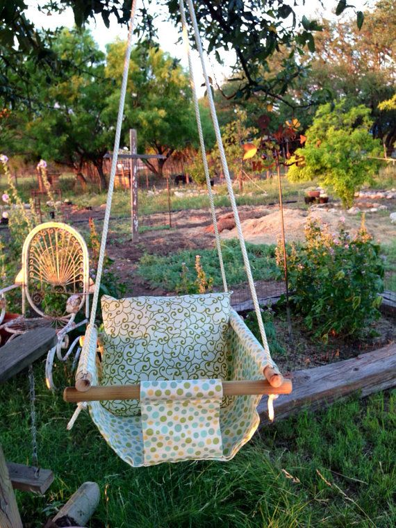 Bushy Tales Baby Swing & pillow  on Etsy, $45.00