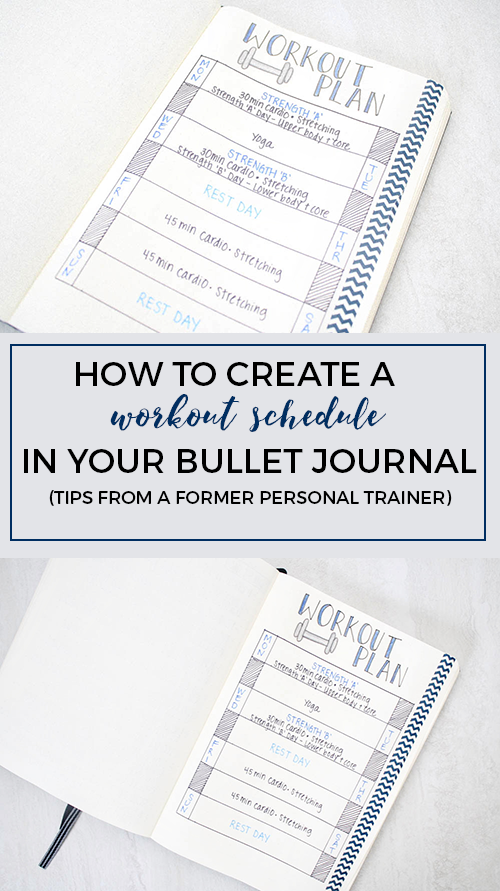 create a workout schedule in your bullet journal