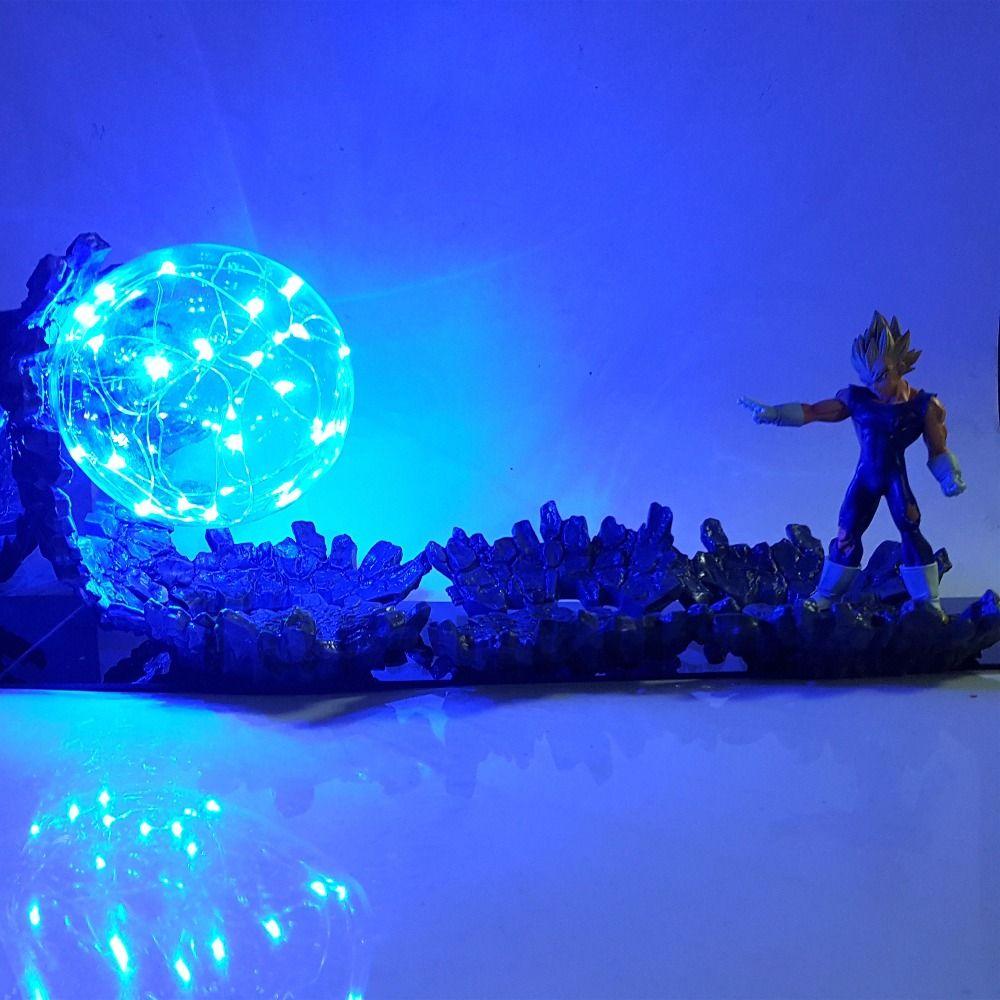 Dragon Figures Z Super Action Up Power Ball Led Vegeta Saiyan Lj534qAR