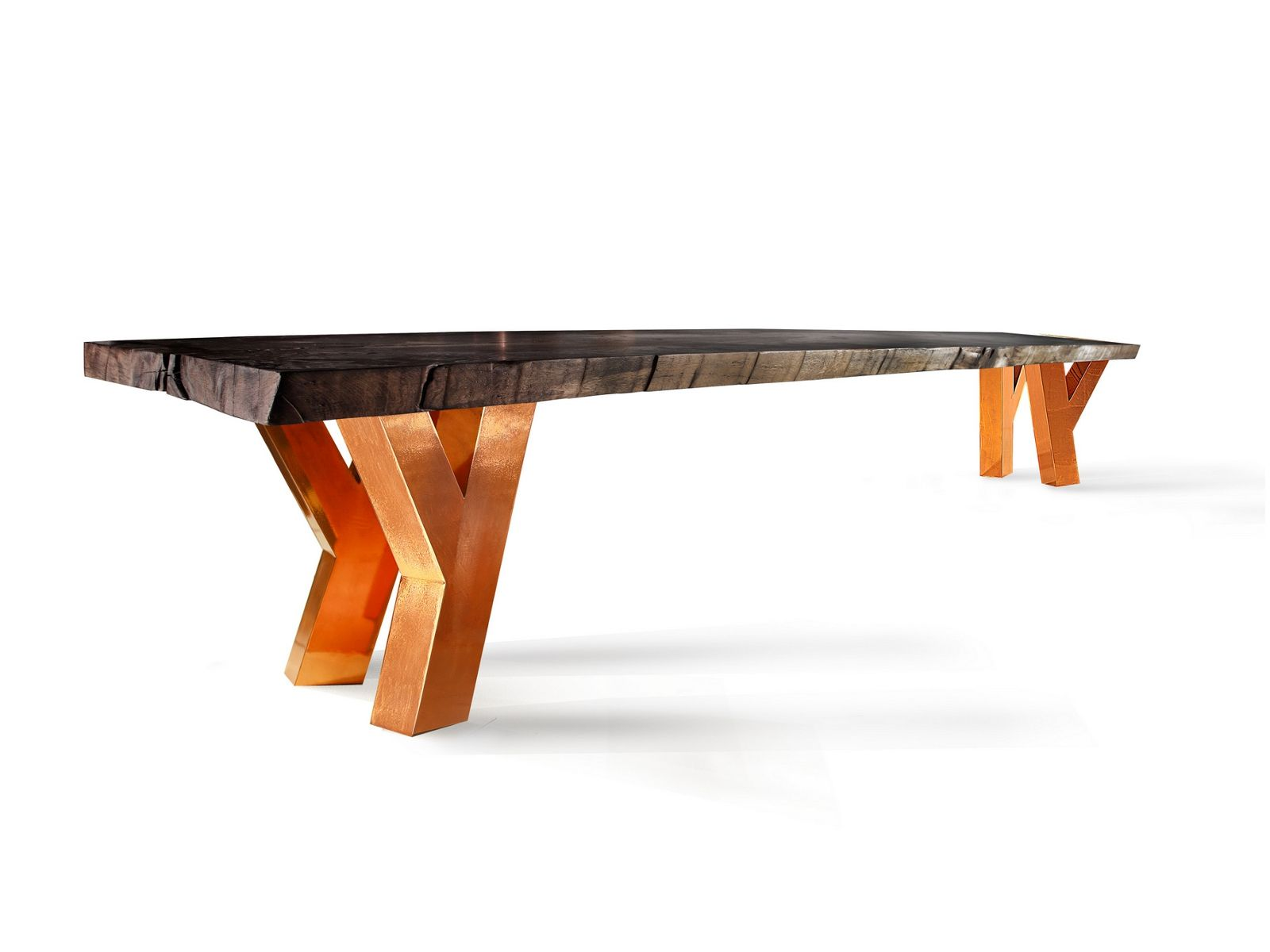 High Quality Rectangular Custom Solid Wood Dining Table MY BELLA MAISA   COPPER LEG MY  BELLAu2026