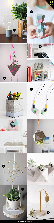 le ciment brut donne un style votre bureau make. Black Bedroom Furniture Sets. Home Design Ideas