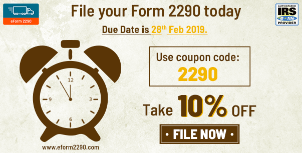 2290 form online 2018  IRS Heavy Vehicle Use Tax | eForm13 Coupons | Irs forms ...
