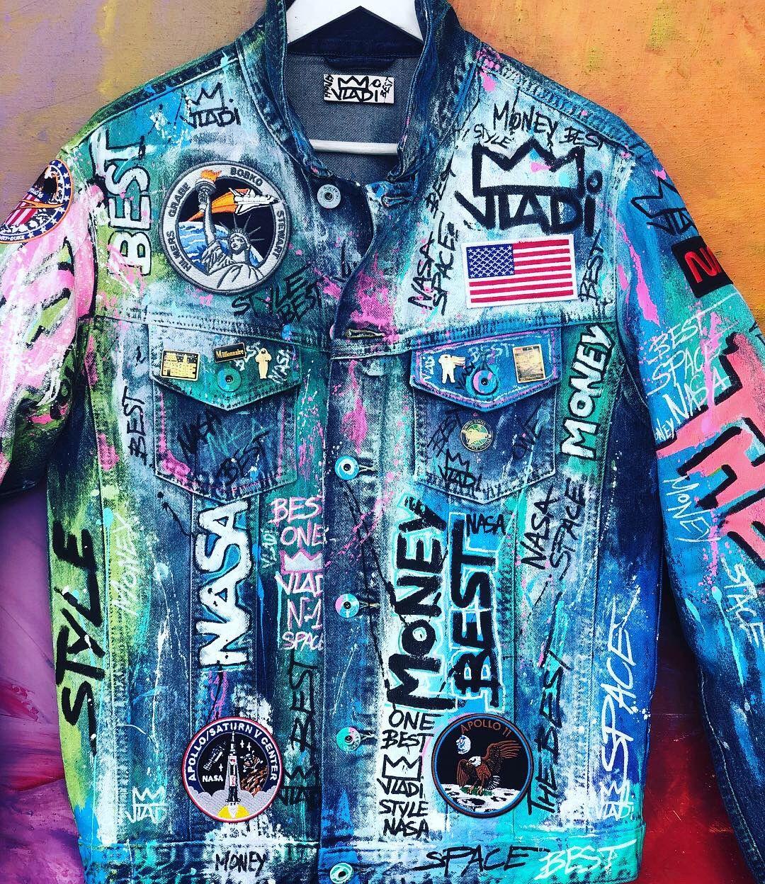 One Best Best Space Nasa Astronomy Astronaut Art Artvladi Jeans Jacket Jeansjacket Unique Painted Clothes Denim Diy Clothes Denim Design [ 1248 x 1080 Pixel ]