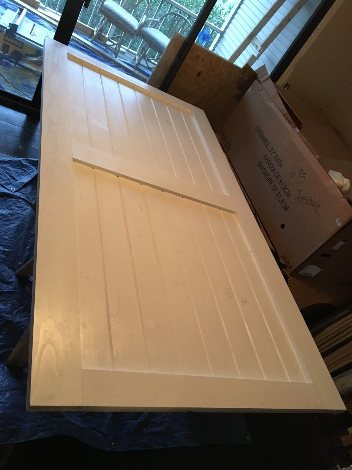 Tongue And Groove Boards Make This Sliding Barn Door Diy As Simple As Can Be Interior Barn Doors Barn Door Interior Barn Doors Diy