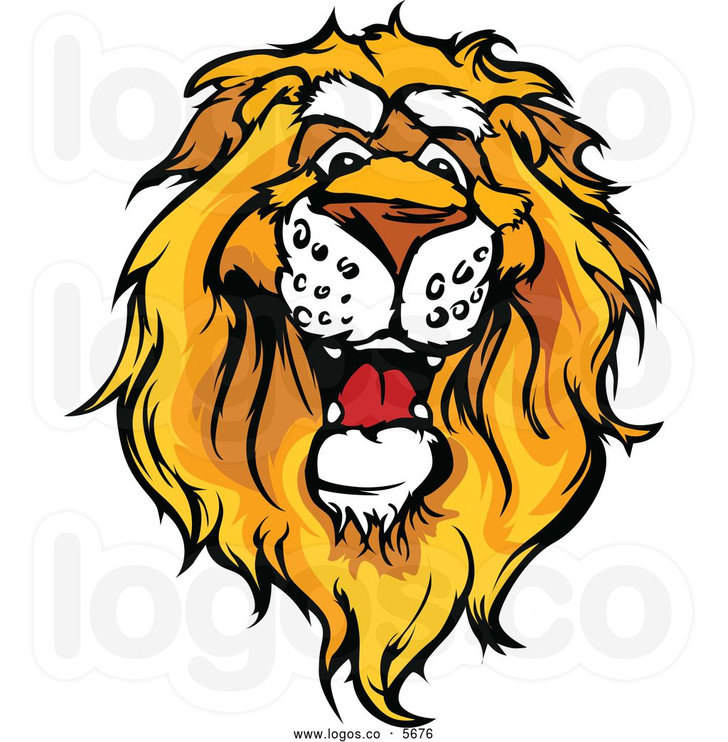 cute lion head clipart royalty free vector of a logo of a friendly rh pinterest com lion head clipart images lion head clip art black and white