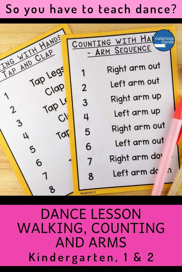 Dance Lesson - Combining Walking, Counting and Arms #danceandmovement