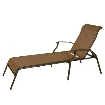 Patio Furniture | San Remo Stackable Sling Chaise Lounge By Summer Winds | Chaise  Lounge