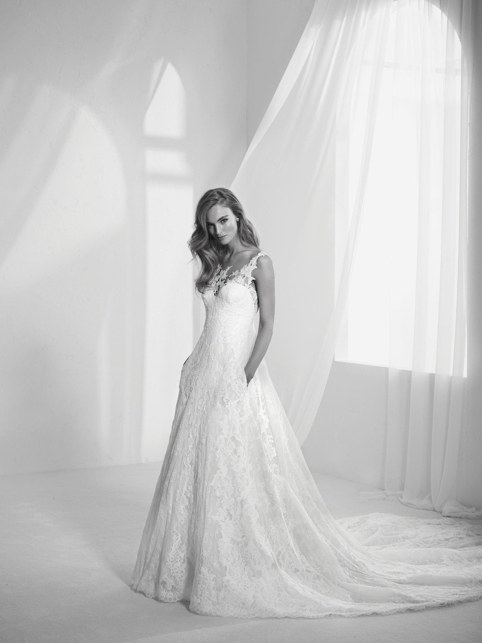 Lace wedding dress radila atelier pronovias just wedding