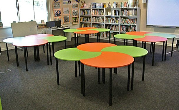 Circle Tables In The Library