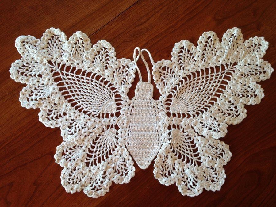 Crochet Butterfly Doily | Ganchillo, Tejido y Puntos