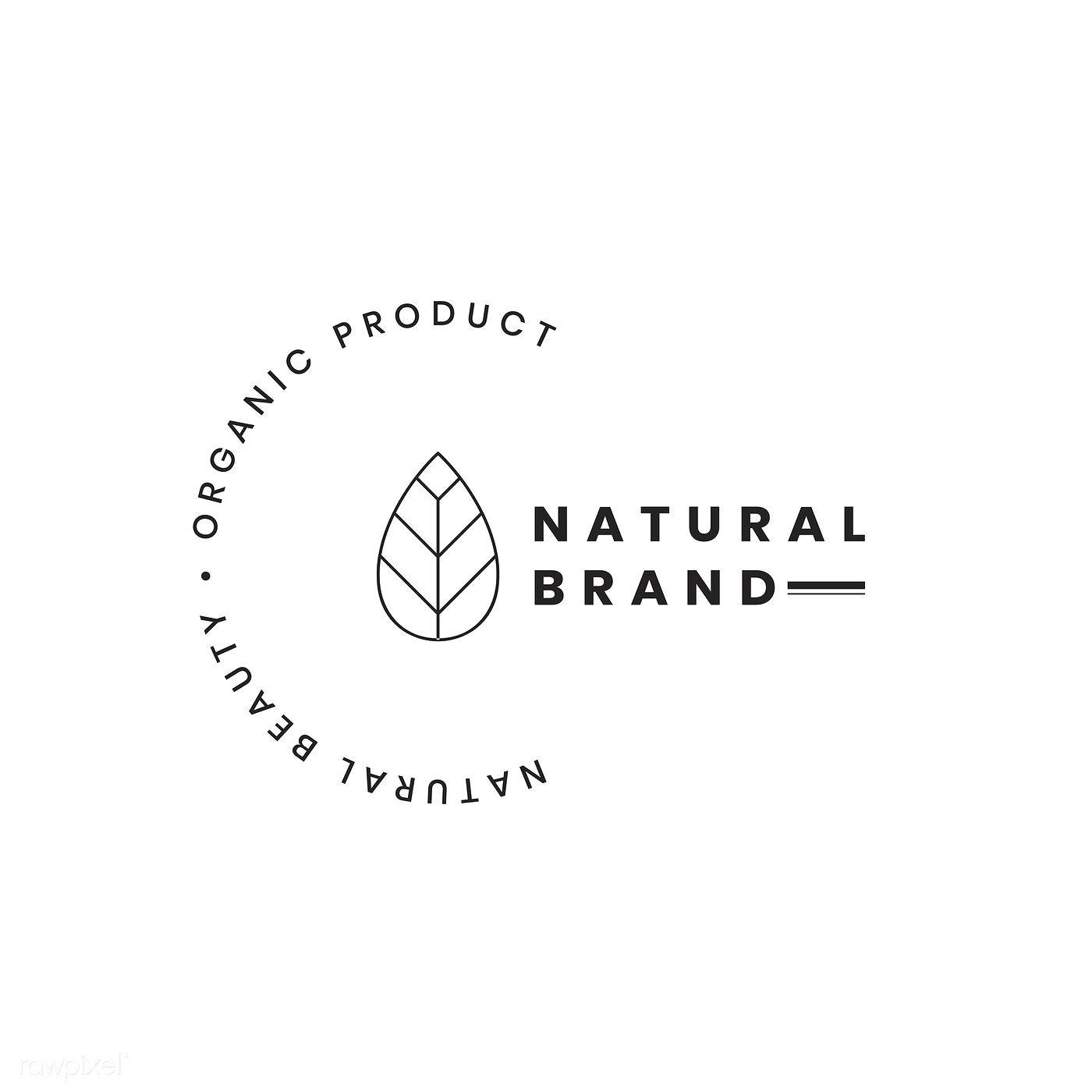 Natural Brand Logo Badge Design: Natural Brand Logo Badge Design