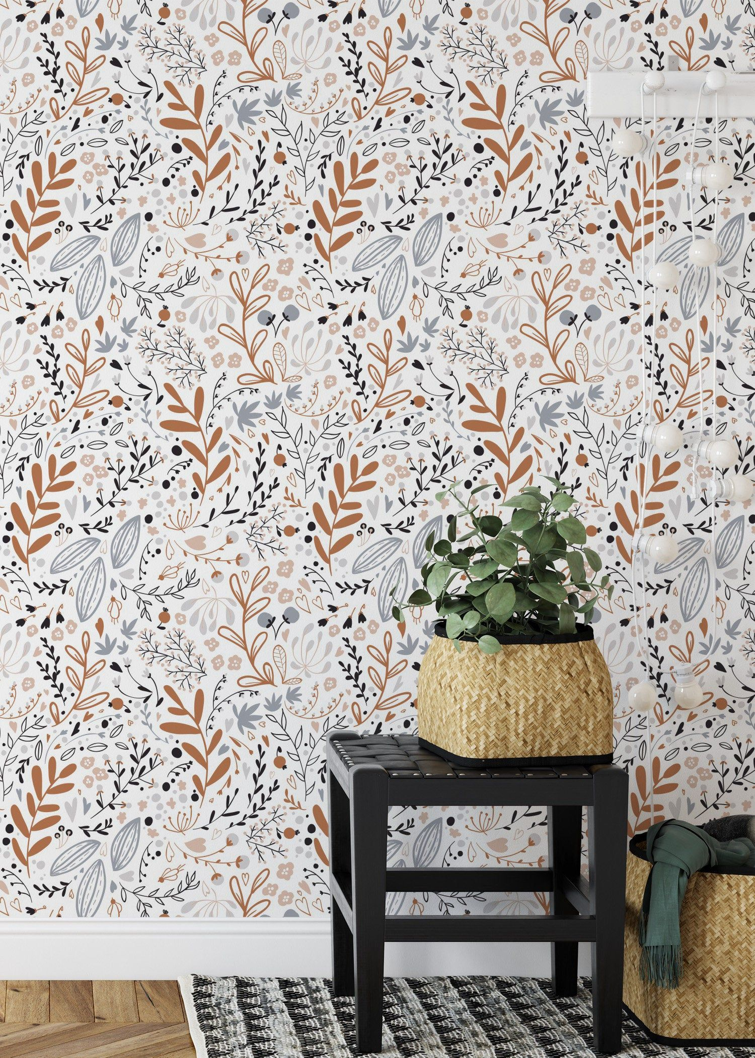Removable Wallpaper Custom Wallpaper Peel And Stick Tropical Etsy Tropical Wall Decor Removable Wallpaper Custom Wallpaper