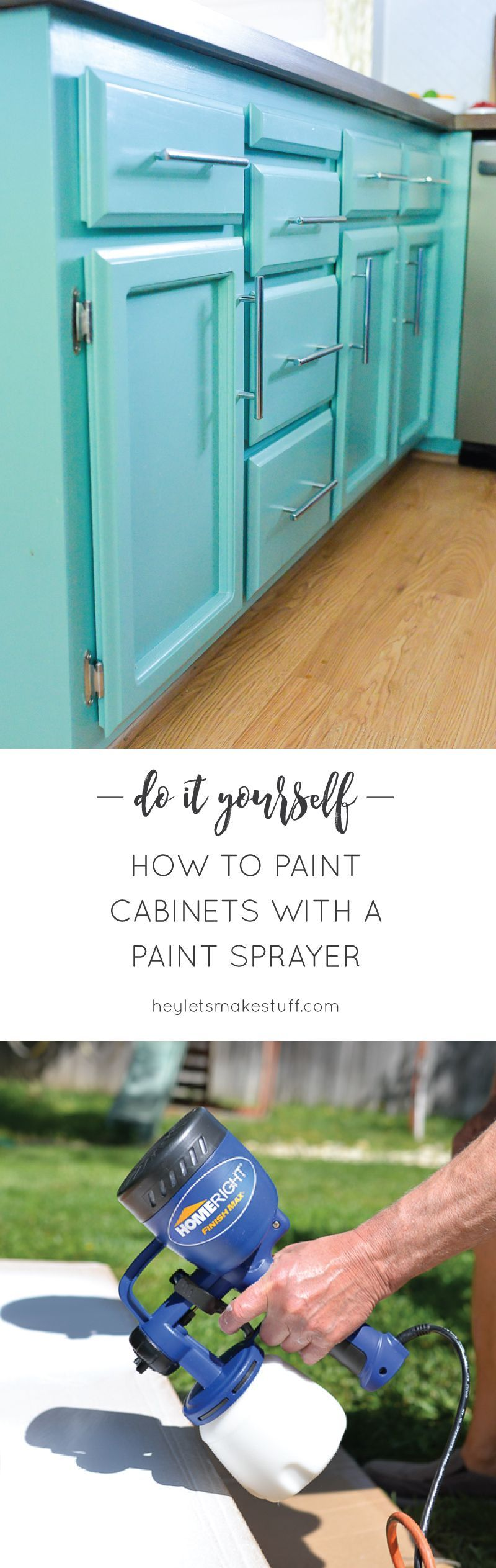 How to Paint Cabinets using Latex Paint and a Paint Sprayer