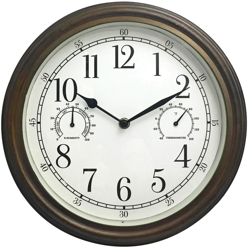 Westclox 12 34 Indoor And Outdoor Wall Clock In 2020 Outdoor Clock Outdoor Wall Clocks Wall Clock