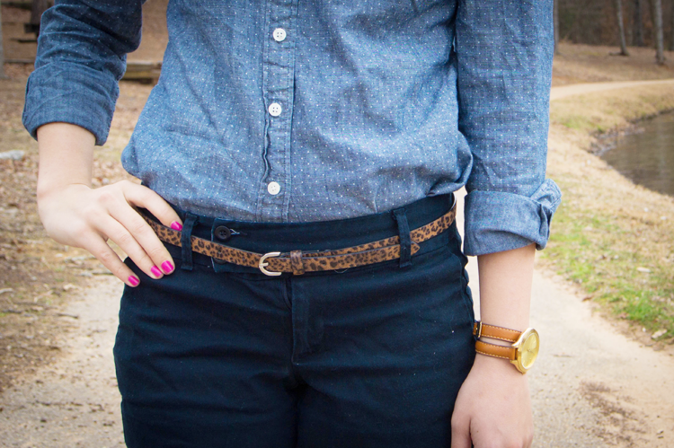Chambray and Leopard Print