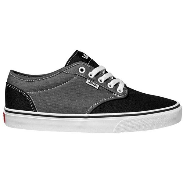 Vans Atwood 2 Tone Canvas Trainers, Grey/Black ($55) ❤ liked on
