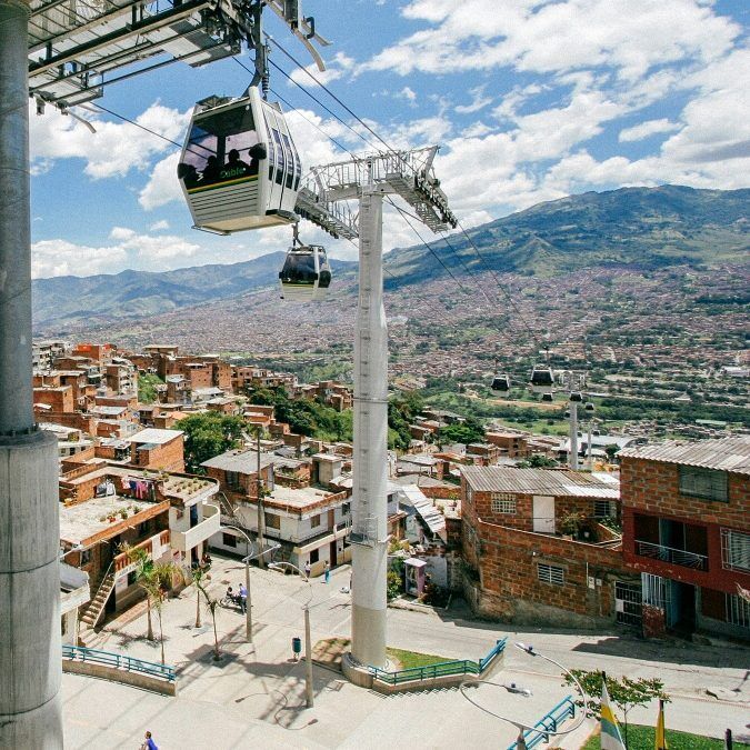 agged peaks in every direction, the icon city of Medellin
