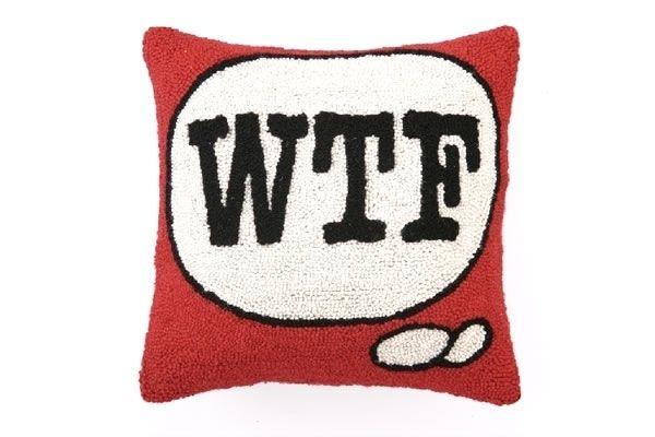 WTF - Emoticon Hook Pillow
