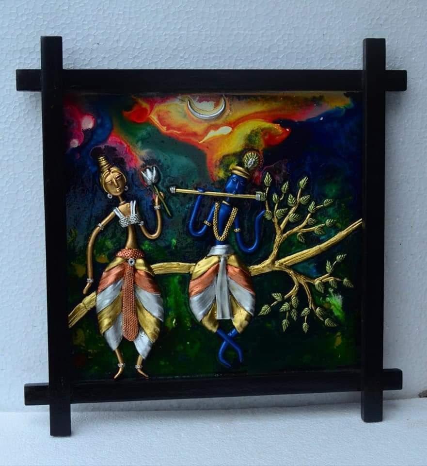 Pin By Mukherjeesukanya On Clay Crafts Canvas Art Projects Mural Art Clay Wall Art