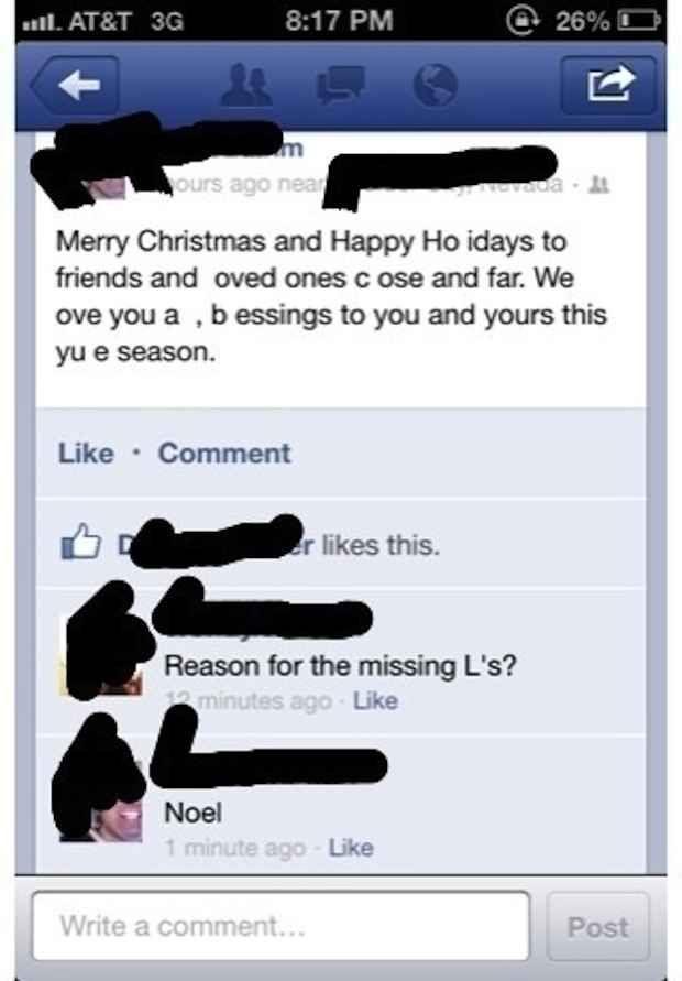 This holiday greeting: