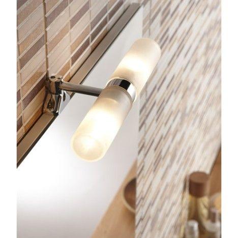 Applique tora fixation sur miroir g9 2x28w ip44 44 leroy merlin appliques eclairage salle - Fixation miroir salle de bain ...