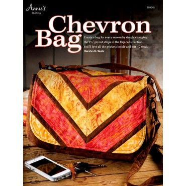 Chevron Bag Pattern Using Precut Strips Quilting Pattern Purse with Pockets NEW