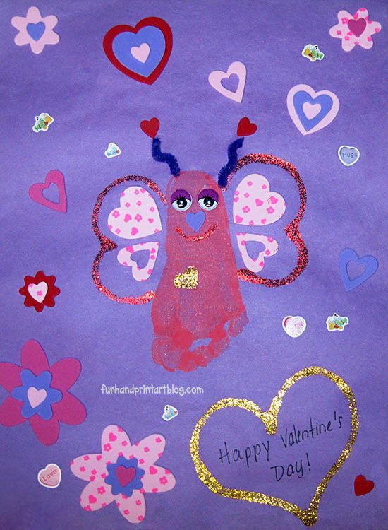 Footprint Love Bug Craft for Valentine\'s Day   Baby foot ...