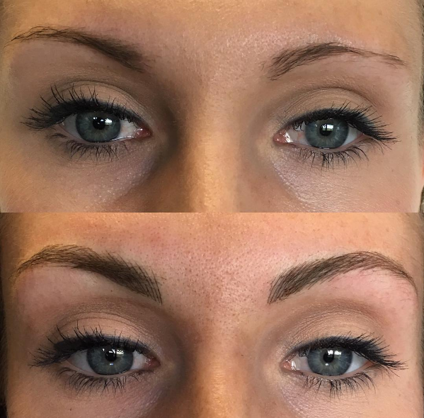 Microblading for permanent brows by Leslie Sazon at Body