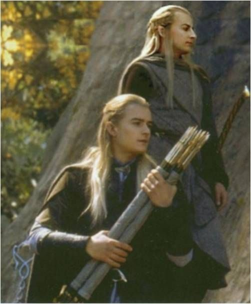 "Can we appreciate legolas's face in this picture. He's like ""oh arrows you are so beautiful I will treasure you always."""