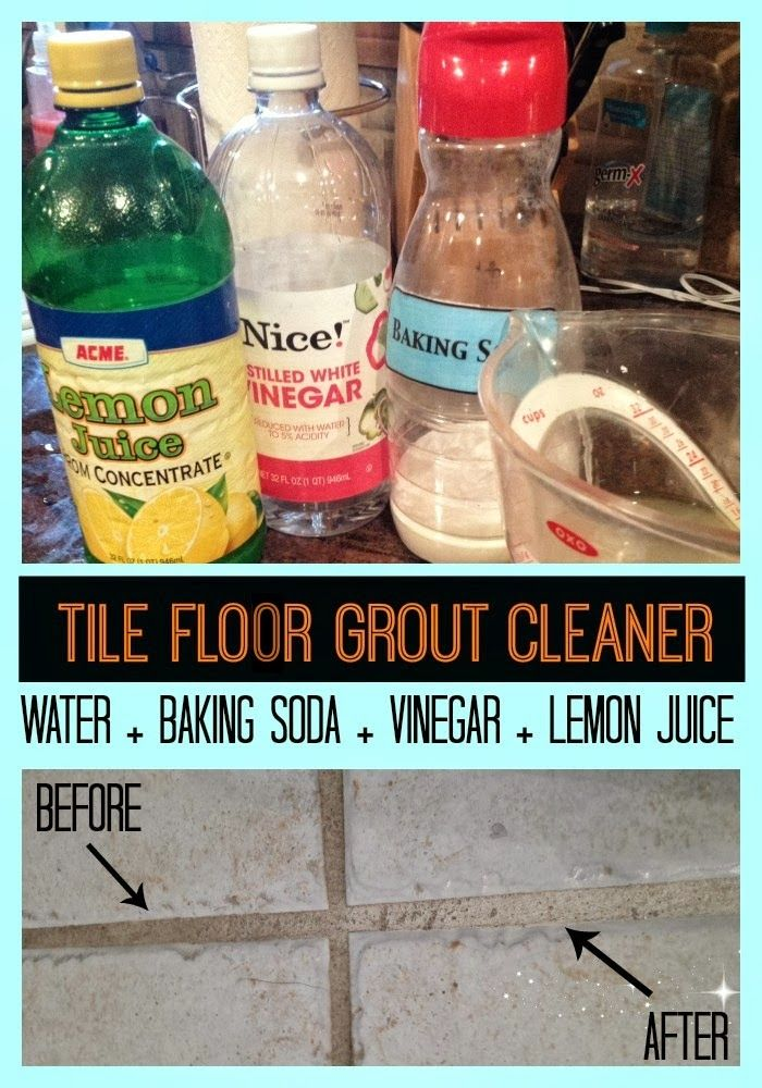 How to Clean Tile Floor Grout {Without Chemicals}   Clean ...