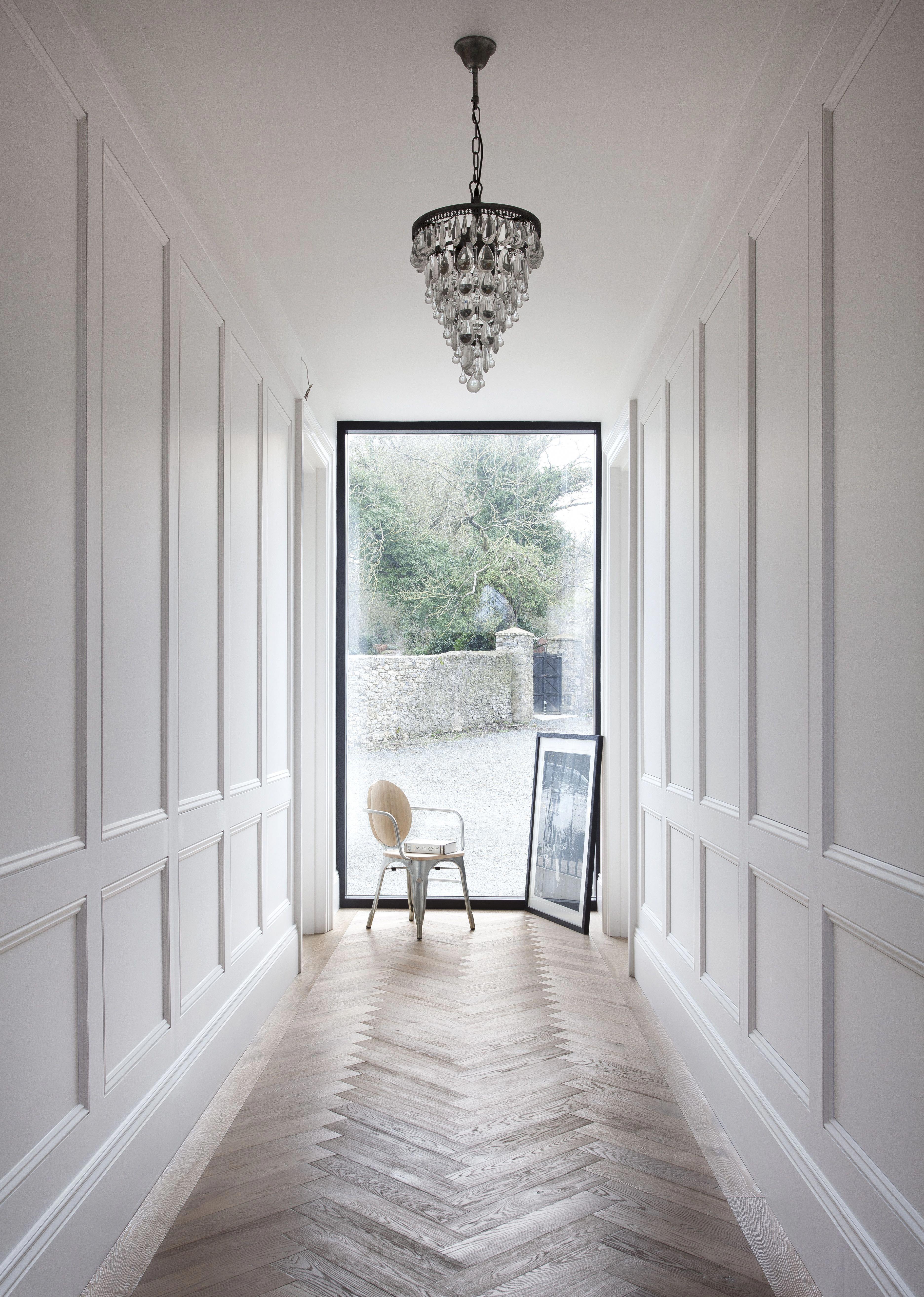 Hallway Lighting ideas modern farmhouse - Spacious entry ...