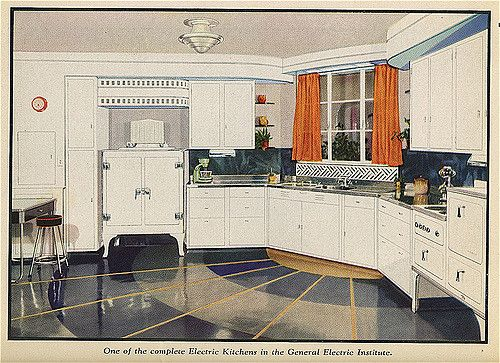 The New Art cookbook, 1934: Model kitchen   Kitchens and House
