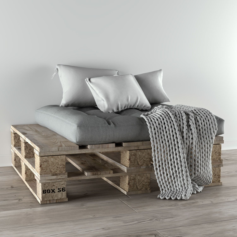 comfort Pallet sofa 3D | CGTrader in 2020 | Pallet sofa ...