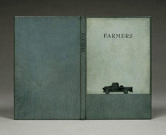 Farmers, Gaylord Schanilec. Bookbinding by Sarah Creighton