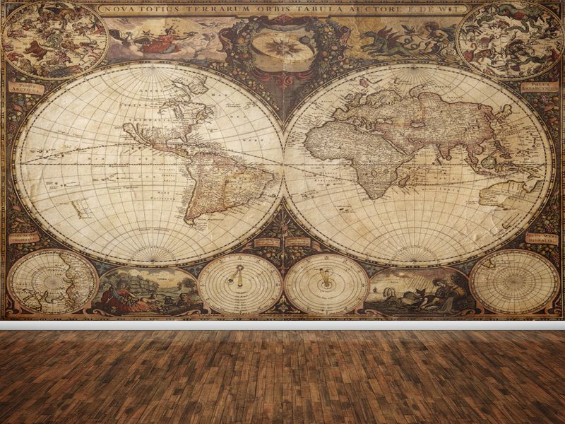Vintage world map wallpaper a lavish home pinterest vintage world map wallpaper gumiabroncs Image collections