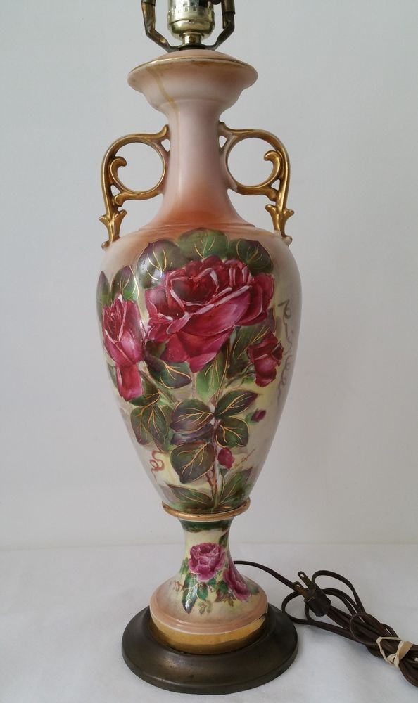 Victoria Antique French Hand Painted Floral Porcelain