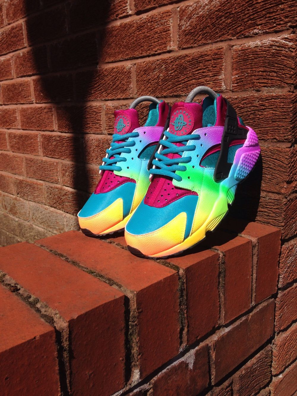 2016 nike air huarache womens rainbow shoes hot | Nike shoes girls ...