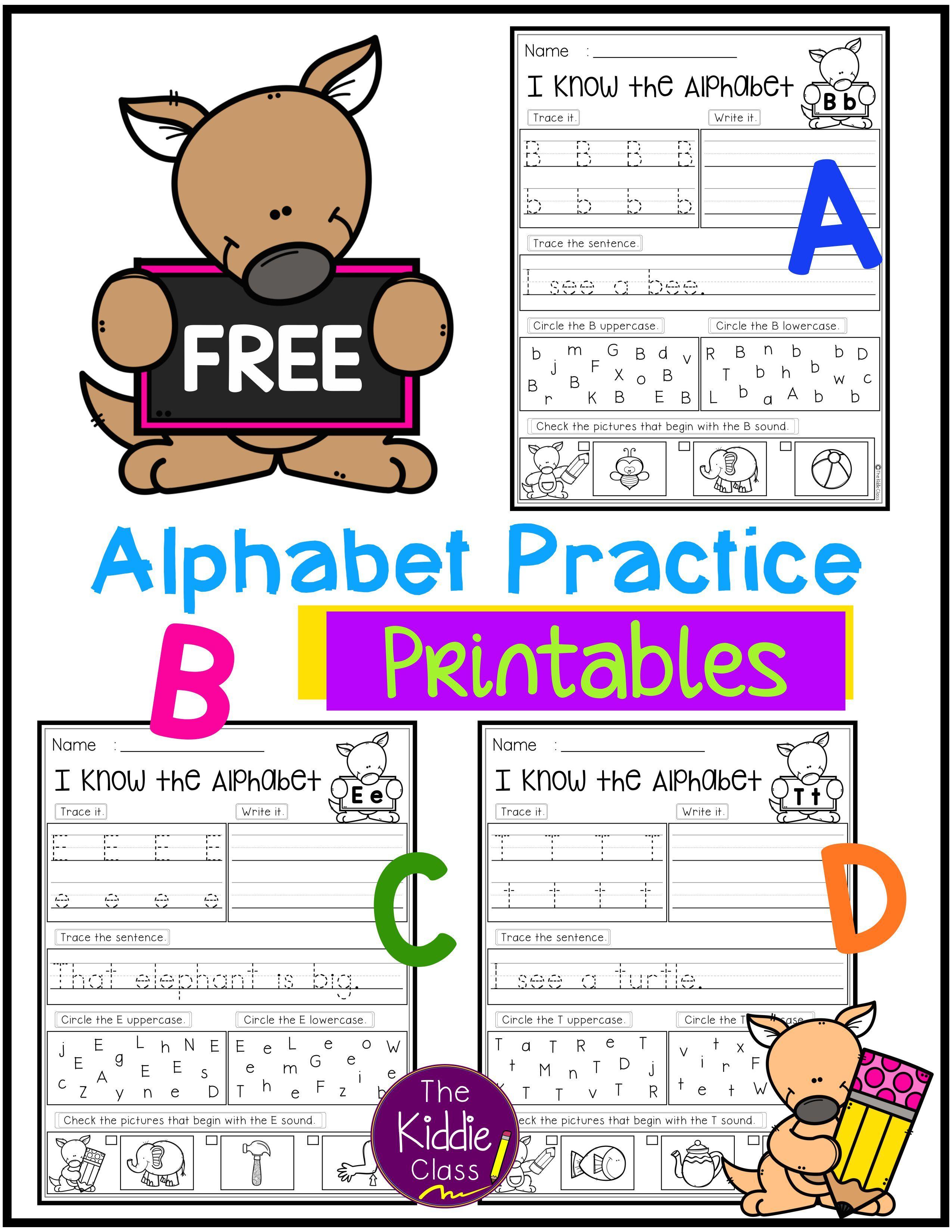 Free Alphabet Practice Printables