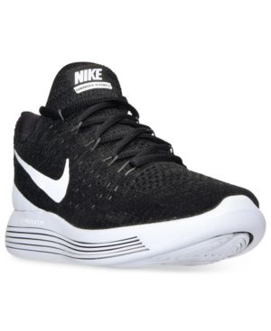 reputable site 71574 c87b2 Nike Women s LunarEpic Low Flyknit 2 Running Sneakers from Finish Line -  Black 7