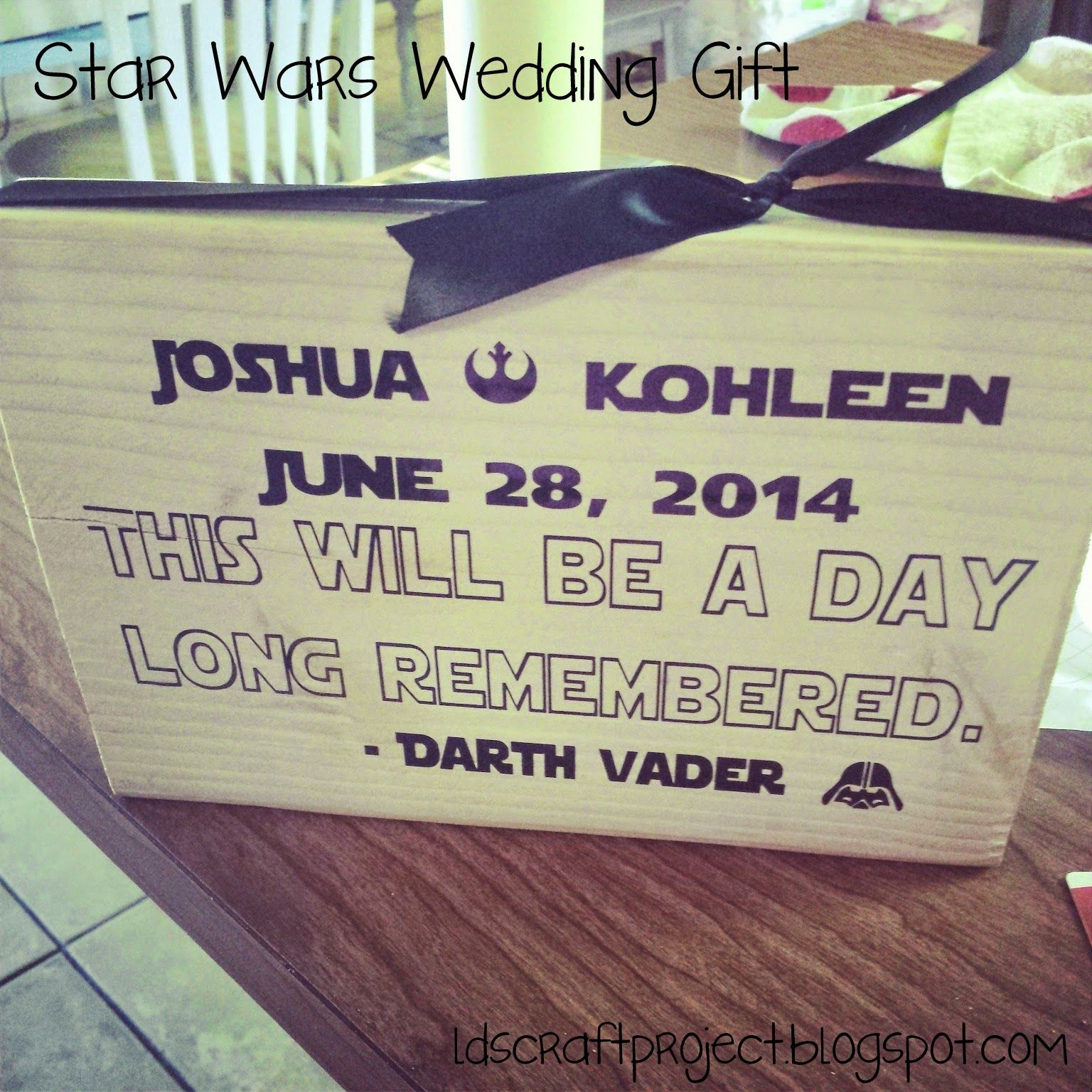 LDS Craft Project Star Wars Wedding Gift