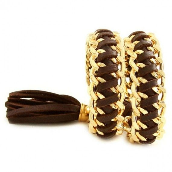 Double Wrap Italian Brown Leather Bracelet #bracelets #fashion #jewelry  9thelm.com