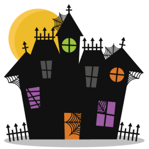 Haunted House Silhouette Download Free Vector At Shmector Com Halloween Haunted Houses Halloween Silhouettes Halloween House