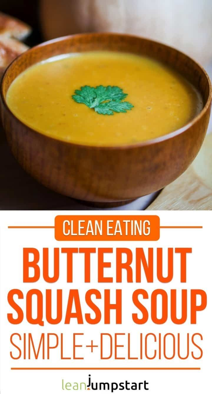 Vegan butternut squash soup with coconut - not only for thanksgiving!