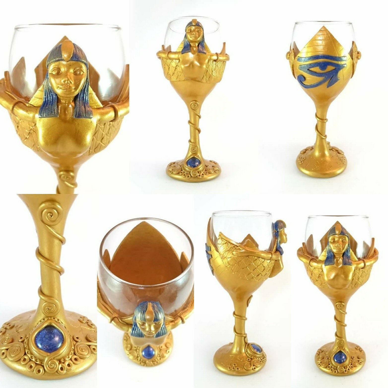 Check out this gorgeous Egyptian Wine Glass I\'ve sculpted from Poly ...