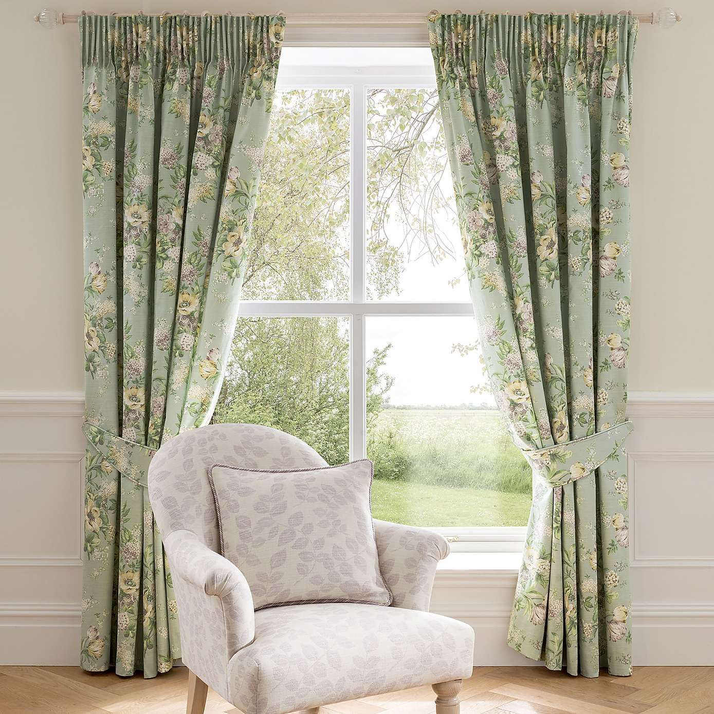 Dorma Duck Egg Brympton Lined Pencil Pleat Curtains